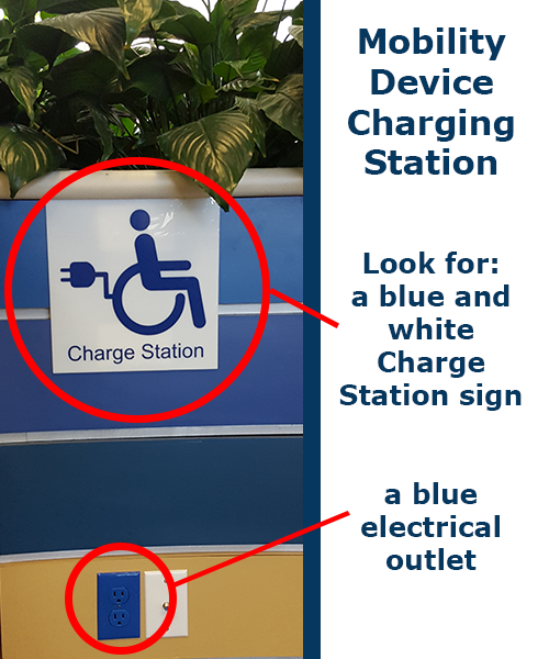 Diagram of a mobility device charging station