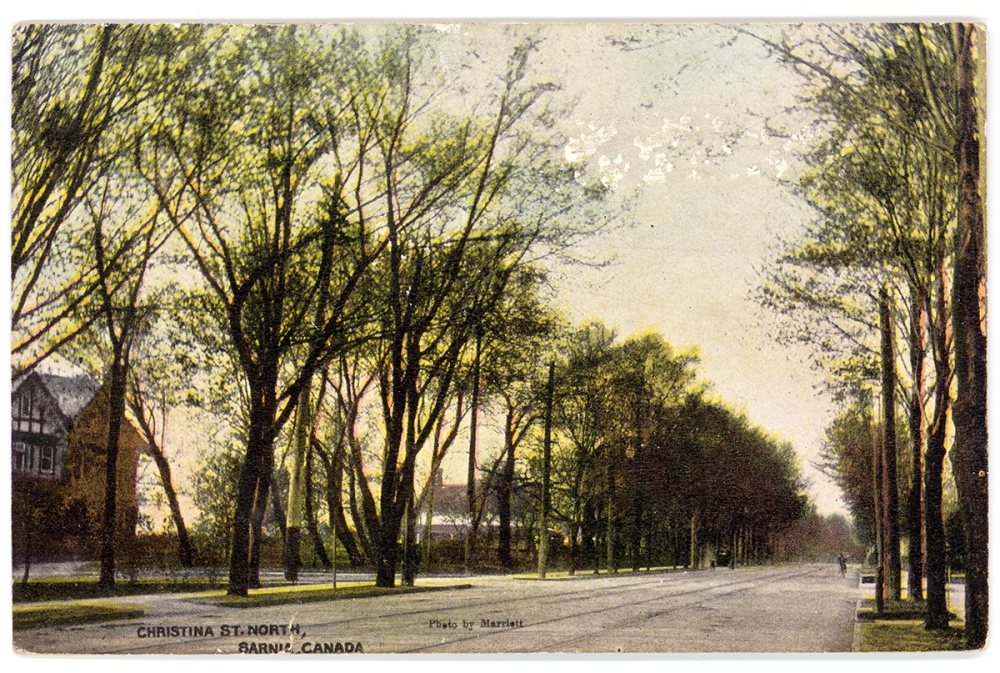 Historical photo of Christina Street North from Lambton County Archives