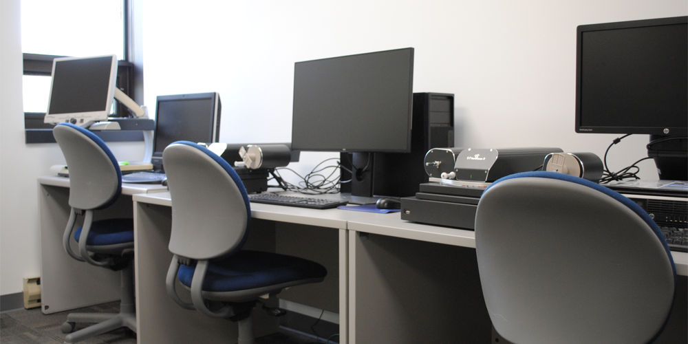 chairs and computer stations at Lambton County Archives