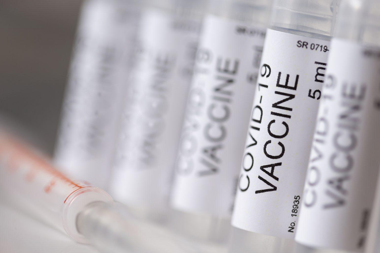 vials of COVID 19 vaccine